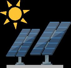 屋根・敷地にて太陽光発電