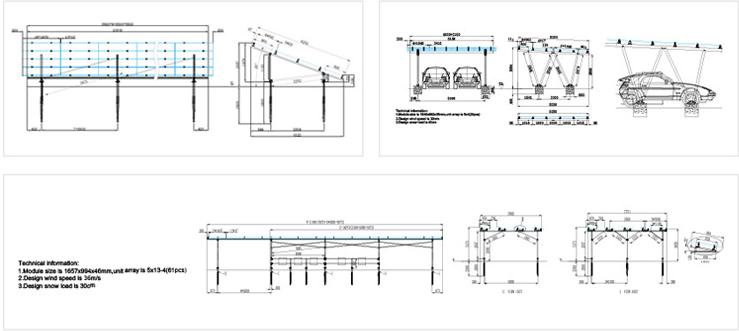 アップソーラー架台の設計図